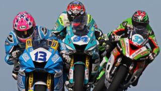 Action from the NW200 Supersport Race