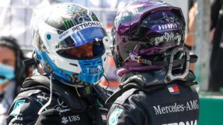 Bottas and Hamilton