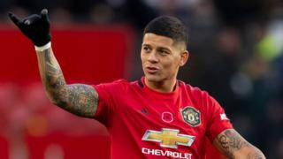 Manchester United's Marcus Rojo