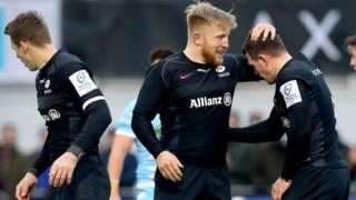 Saracens celebrate against Warriors