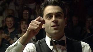 Ronnie O'Sullivan celebrates