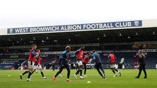 West Brom warm-up