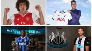David Luiz, Giovani lo Celso, Romelu Lukaku, Andy Carroll