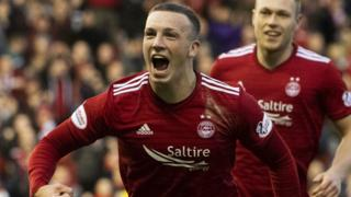 Aberdeen's Lewis Ferguson celebrates