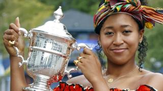 Naomi Osaka with US Open trophy