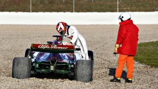 Kimi Raikkonen gravel
