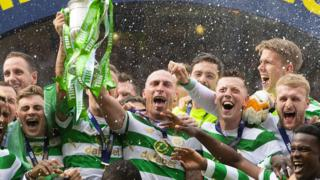 Scottish Cup celebration