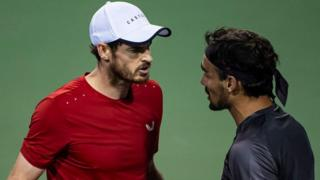Andy Murray and Fabio Fognini