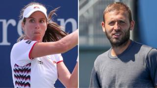 Johanna Konta (left) and Dan Evans