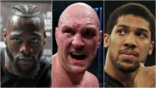 Deontay Wilder, Tyson Fury & Anthony Joshua