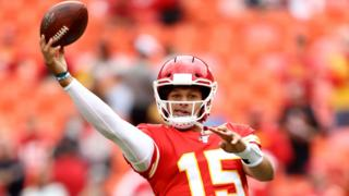 Patrick Mahomes of Kansas City Chiefs