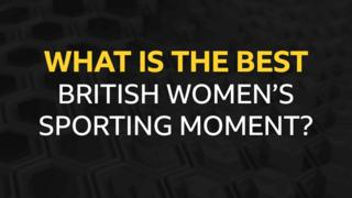 A graphic saying What is the best British women's sporting moment?