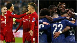 Liverpool and Chelsea players celebrate
