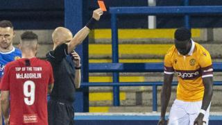 Mugabi red card