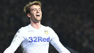 Patrick Bamford celebrates for Leeds