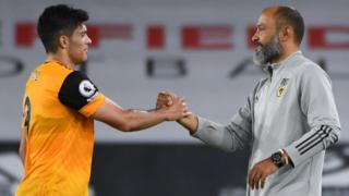 Raul Jimenez and Wolves boss Nuno