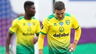 Norwich City's players react after conceding a goal against West Ham