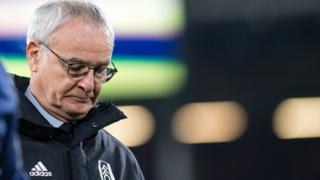 Fulham manager Claudio Ranieri walks off after late loss to Spurs