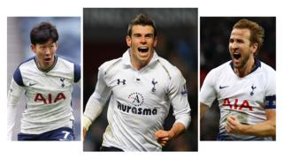 Tottenham's Son Heung-Min, Gareth Bale and Harry Kane