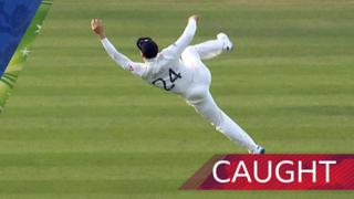 Denly's fantastic catch removes Paine