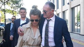 Paul Gascoigne leavingTeesside Crown Court