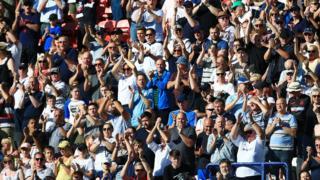 Bolton fans v Ipswich