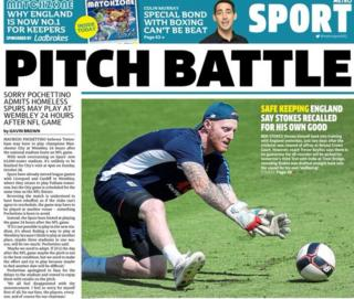 Metro back page on Friday