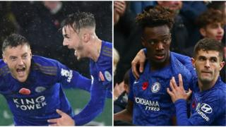 (Left to right) James Maddison, Jamie Vardy, Tammy Abraham and Christian Pulisic