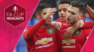 Man United celebrate their second goal