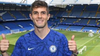 Chelsea's new £58m forward Christian Pulisic