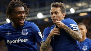 Everton celebrate