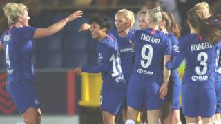 Chelsea celebrate Guro Reiten