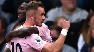 James Maddison celebrates with Wilfred Ndidi