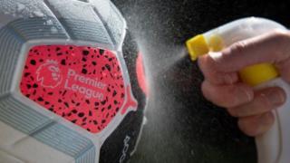 Premier League ball sprayed