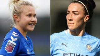 Izzy Christiansen (left) and Lucy Bronze