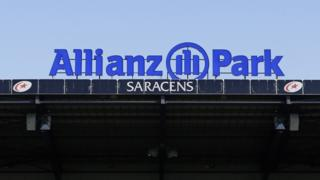 A general shot of a stand at Saracens' stadium Allianz Park