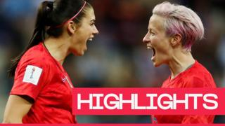 USA's Morgan and Rapinoe celebrate