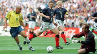 Scotland v Brazil in 1998