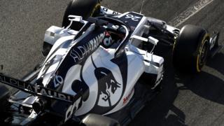 Alpha Tauri at F1 testing