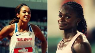 Katarina Johnson Thompson and Dina Asher Smith