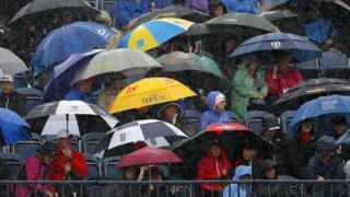 Umbrellas at The Open