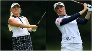 Bronte Law and Charley Hull