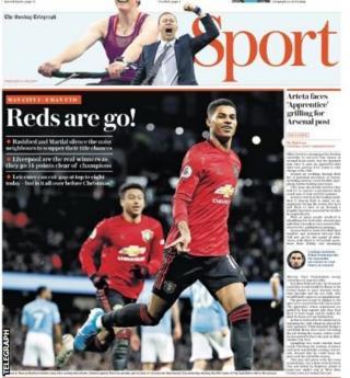 Sunday Telegraph's back page