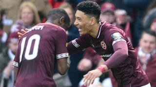 Sean Clare celebrates his goal