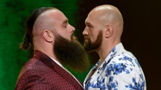 Fury and Strowman