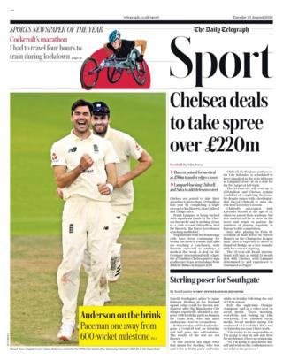 Telegraph back page