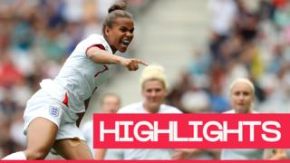 England's Parris celebrates goal with team