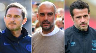 Frank Lampardi, Pep Guardiola, Marco Silva