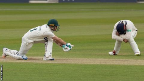 Colin Ackermann sweeps at Lord's