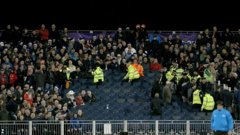 Fans are evacuated at Chester-le-Street